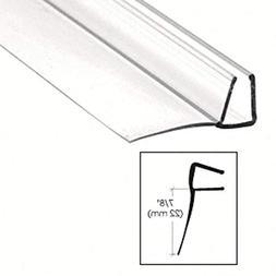 "CRL Shower Door Polycarbonate with 90 degree 7/8"" Long Vinyl"