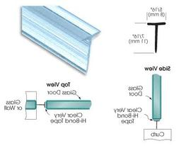 CRL Translucent Shower Door Vinyl T Seal and Sweep for 7/16