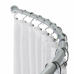 5' Curved Crescent Chrome Shower Curtain Rod