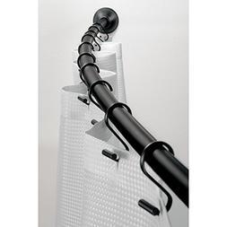InterDesign Curved Shower Curtain Rod, 41-72 Inch - Matte Bl