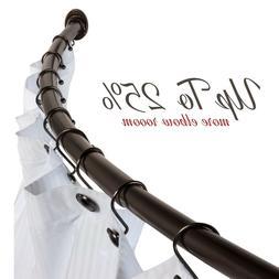 Bennington Curved Shower Curtain Rod Wall Mounted Adjustable