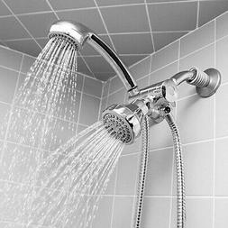 Deluxe Easy Install 5-function Dual Shower Head and Massager