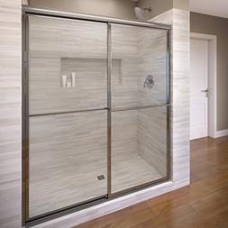 Basco Deluxe Framed Sliding Shower Door, Fits 38-40 inch ope