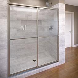 Basco Deluxe Framed Sliding Shower Door, Fits 45-47 inch ope