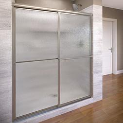 Basco Deluxe Framed Sliding Shower Door, Fits 54-56 inch ope