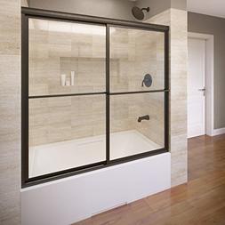 Basco Deluxe Framed Sliding Tub Door, Fits 56-59 inch openin