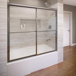 Basco Deluxe Framed Sliding Tub Door, Fits 54-56 inch openin