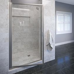 Basco Sopora 33.125- 34.875 in. Width, Pivot Shower Door, Aq