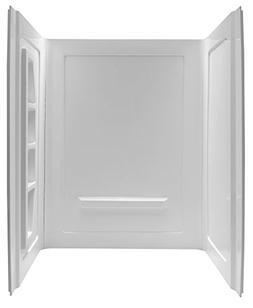 "60"" x 36"" x 74"" Direct-to-Stud Alcove Shower Wall - White -"