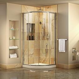 DreamLine DL-6701-01CL Prime Frameless Shower Enclosure & 33