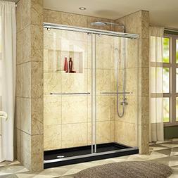 DreamLine DL-6943R-88-01 Chrome Sliding Shower Door and Blac
