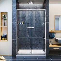 DreamLine DL-6975C-01CL Infinity-Z Frameless Shower Door & 3