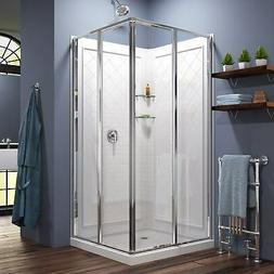 DreamLine DL-6150-01 Cornerview Sliding Shower Enclosure & 3
