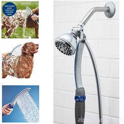 Pet Dog Shower Water Comb Spray Soft Washing Cleaning Bath W