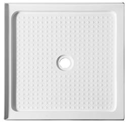 "38"" x 38"" Double Threshold Shower Base - White - Valley Seri"