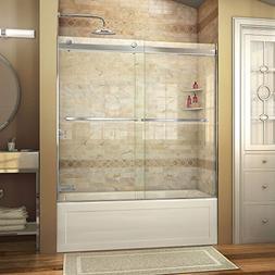 DreamLine SHDR-6360600 Essence 56-60 Frameless Bypass Tub Do