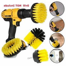 Drill Brushes Set 3pcs Tile Grout Power Scrubber Cleaner Spi