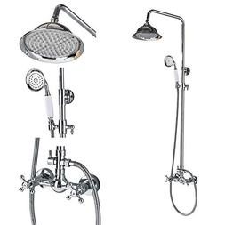 Rozin Bathroom 2 Knobs Mixer Faucet 8-inch Rainfall Shower S