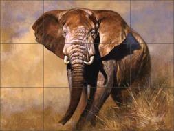 Elephant Tile Backsplash Edward Aldrich Animal Art Ceramic M
