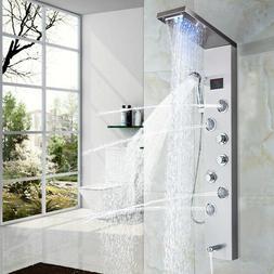 ELLO&ALLO LED Shower Panel Tower Rainfall Waterfall Shower F
