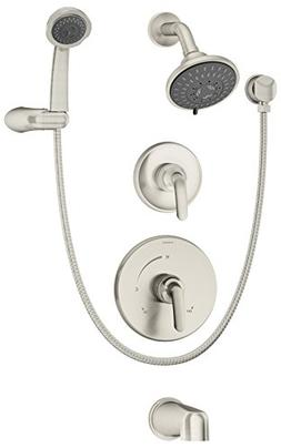 Symmons 5506-STN-TRM Elm Tub, Shower and Handshower Trim, Sa
