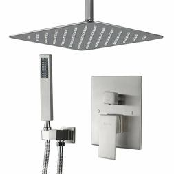 Esnbia Shower System, Ceiling Brushed Nickel Shower Faucet S