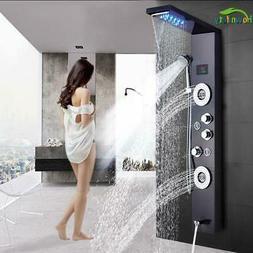 Faucet Led Light Bath Shower System Spa Brush