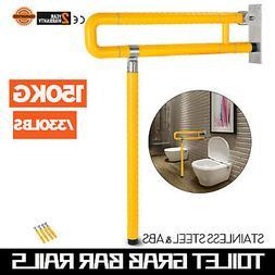 Flip Up Toilet Safety Frame Rail Shower Grab Bar for Home an