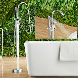 Floor Mounted Bathtub Faucet Free Standing Tap Tub Filler Wi