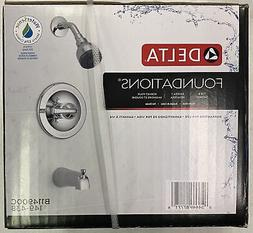 Delta foundations Tub And Shower Faucet Single-Handle Lever