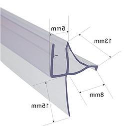 MFYO Frameless Glass Shower Sliding Door Bottom Seal Sweep D