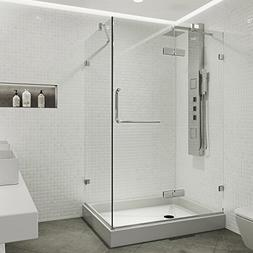 frameless rectangular hinged pivot shower