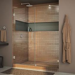 "Dreamline Frameless Shower Door, 50"" x 72"" Radiance Hinged G"