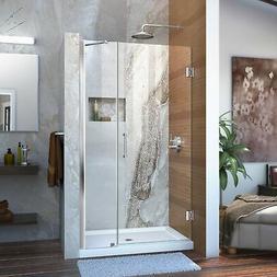"""Dreamline Frameless Shower Door, 29"""" Wide Unidoor w/ Support"""