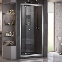 "Dreamline Frameless Shower Doors, 34""36"" x 72"" Butterfly Cle"