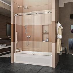 """Dreamline Frameless Shower Doors, 56""""59"""" x 62"""" EnigmaX Clear"""
