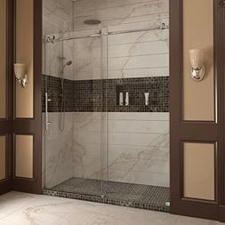 """Dreamline Frameless Shower Doors, 56""""60"""" x 76"""" EnigmaX Clear"""