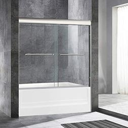 """WOODBRIDGE Frameless Sliding Bathtub Door, 56"""" to 60"""" by 62"""""""