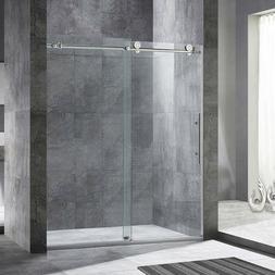 """WoodBridge Frameless Sliding Shower Door, 56"""" - 60"""" Width, 7"""