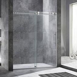 "WOODBRIDGE MBSDC6076C Frameless Sliding Shower, 56""-60"" Widt"