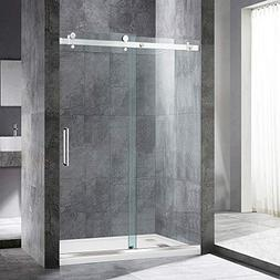 "WOODBRIDGE Frameless Sliding Shower, 44""-48"" Width, 76"" Heig"