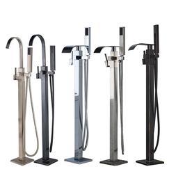 Free Standing Bathroom Tub Faucet Floor Mount Tub Filler Han