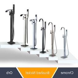 Free Standing Bathtub Shower Faucet Floor Mounted Tub Filler