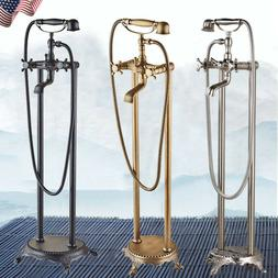 Free Standing Claw-foot Bathtub Faucet Floor Mounted Tub Fil
