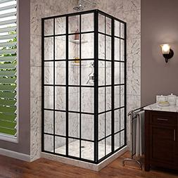 DreamLine French Corner 34 1/2 in. D x 34 1/2 in. W x 72 in.