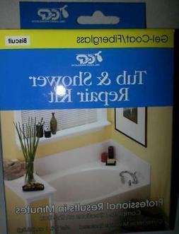 Gel-Coat Fiberglass Tub and Shower Chip & Gouge Surface Repa