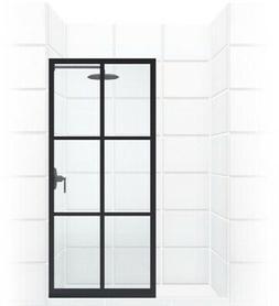 Coastal Shower Doors Gridscape Series 36 in. x 75 in. Factor