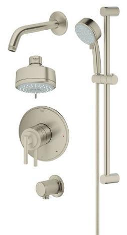Grohflex Timeless 4-Spray 2-Function Pressure Balance Shower