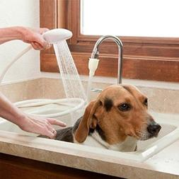 Hair Dog Pet Shower Sprays Hose Bath Tub Sink Faucet Attachm