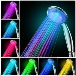 Handheld 7 Color Changing LED Light Water Bath Home Bathroom